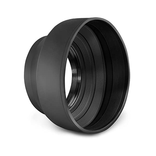 Fotodiox 3-Section Rubber Lens Hood 52mm Sun Shade