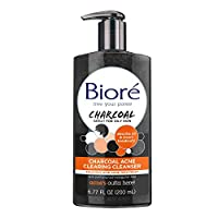 Bioré Charcoal Acne Clearing Facial Cleanser, 6.77 Ounce, with 1% Salicylic Acid and Natural Charcoal, Helps Prevent Breakouts and Absorb Oil for Deep Pore Cleansing