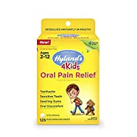 Kids Oral Pain Relief Tablets by Hyland's 4Kids, Natural Relief of Toothache, Swelling Gums, and Oral Discomfort, 125 Count