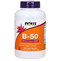 NOW Supplements, Vitamin B-50 mg, Energy Production*, Nervous System Health*, 250 Veg Capsules