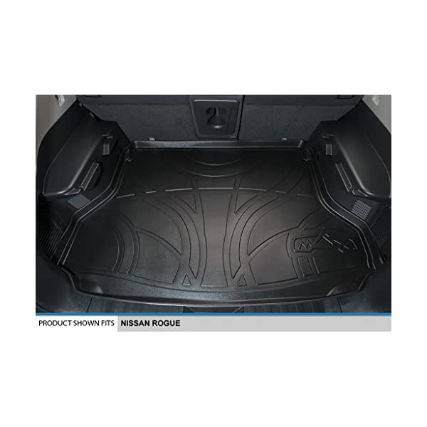 Not fit for Rouge Select for Nissan Rogue 2014-2018 Black Interior Retractable Rear Trunk Cargo Luggage Security Shade Cover Trim 1 Set