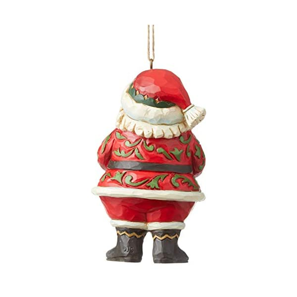 Multicolor Enesco Rudolph The Red Nosed Reindeer by Jim Shore Santa North Pole Hanging Ornament 3.7