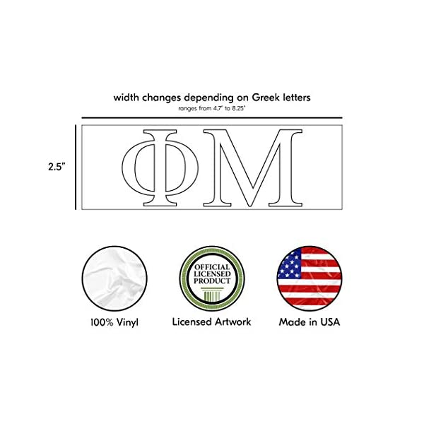Black Girls College Group Monogram Design 2.5 Tall Officially Licensed Product Pro-Graphx Alpha Phi Sticker Greek Sorority Decal for Car Windows Laptop