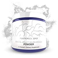 White Jelly Mushroom Powder | 60 Grams | Tremella fuciformis | Organic Whole Fruiting Body Extract | Immune Booster | Promotes Healthy Cellular Function