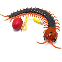 STUDYY 100Pcs Realistic Fake Plastic Centipede Scolopendra Insects Joke Scary Trick Bugs Halloween Decoration Prop