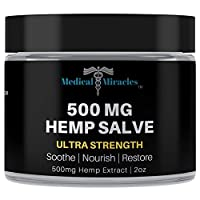 Medical Miracles Hemp 500 Mg Ultra Strength Healing Salve   100% Natural Cream Relieves Inflammation, Muscle, Joint, Knee, Nerve, Arthritis Aches & Pain   Fast Acting, Maximum Power, Quick Relief