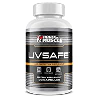 LivSafe (90 Capsules) - Liver Protection Supplement - Protect, Cleanse & Detoxify Liver from Toxins, Chemicals & Contaminants - Vegetarian Safe Capsules