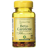 Beta Carotene for Immune and Eye Health by Puritan's Pride to Support a Healthy Immune System 100 Softgels