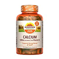 Sundown Calcium 1200 Plus Vitamin D3 1000 IU, Value Size 170 Softgels for Strong Bones and Teeth, Non-GMOˆ, Free of Gluten, Dairy, Artificial Flavors