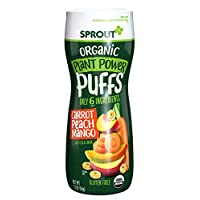 Sprout Organic Quinoa Puffs Baby Snacks, Carrot Mango, 1.5 Ounce Canister (Pack of 1) (Packaging May Vary)
