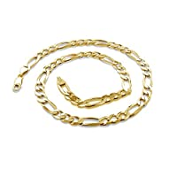 Multiple Lengths /& Colors Made In Italy 18K Gold 2.3mm Figaro Link Chain Bracelet or Necklace