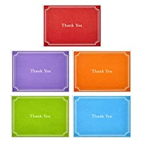 Hallmark Thank You Cards, Assorted Solid Colors (Pack of 50 Note Cards with Envelopes, Blank Thank You Notes for Business, Graduation, Weddings, Showers) - 5WTU1080