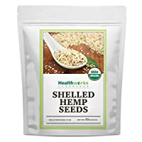 Healthworks Shelled Hemp Seeds Organic (32 Ounces / 2 Pounds)   Premium & All-Natural   Canadian or European Sourced   Contains Omega 3 & 6, Fiber and Protein