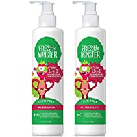 Fresh Monster Toxin-free Hypoallergenic 2-in-1 Kids Shampoo & Conditioner, Watermelon, 2 count, 8oz.
