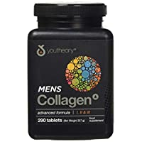 Youtheory Men's Collagen Advanced with Biotin, 290 Count (1 Bottle) (Packaging may vary)