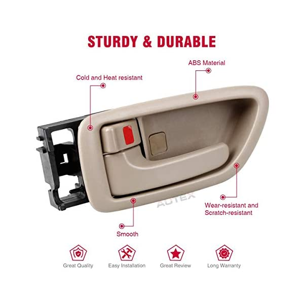 AUTEX 1pc Beige Interior Door Handle Front//Rear Left Driver Side Compatible with 2000 2001 2002 2003 2004 Toyota Avalon Door Handle 81282 69206-AC010-E1 69206AC010E1 TO1352160