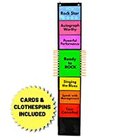 Behavior Clip Chart for Classroom Management – Teaching Supplies Suitable for Preschool, Child Care, or Homeschool – Track and Reward Good Behavior (Black)