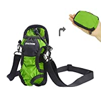OYATON Water Bottle Holder with Adjustable Shoulder Strap, Portable Bottle Carrier Sling Bag Folds into Pouch for Easy Storage, Perfect for Walking, Hiking, Yoga, Gym, Kayaking and Travel