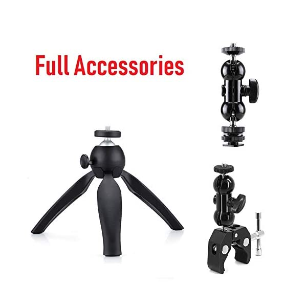 Clamp Mount Stand Ball-Head Arm for Zoom Recorder H6 H5 H4n H2n H1n