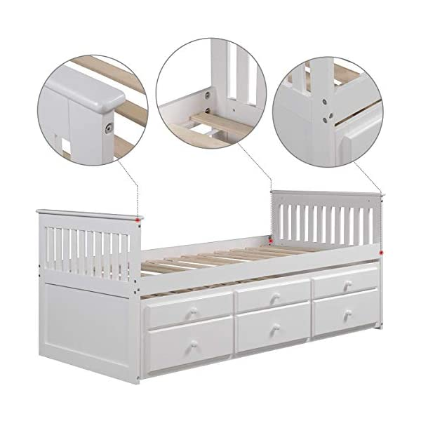 Trundle Bed And Storage Drawers