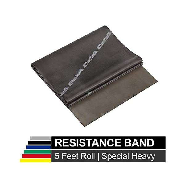 BLACK TheraBand by the FOOT Physical Therapy Exercise Resistive Band Heavy