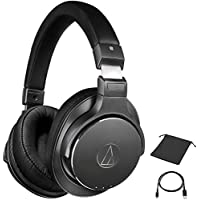 with Built in Power Bank and Cable Navitech Black Rugged Headphone//Headphones Case Cover Compatible with The Audio-Technica ATH-SR50