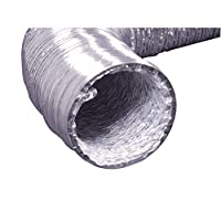 HVAC or Grow Room Heat Ventilation Extra Strong Aluminum Interior and Flexible Tear Resistant PVC Outer Shell 12 ft Hippohese 2 Premium Screw Clamp Connections Dryer Vent Hose Transition Duct 4 inches