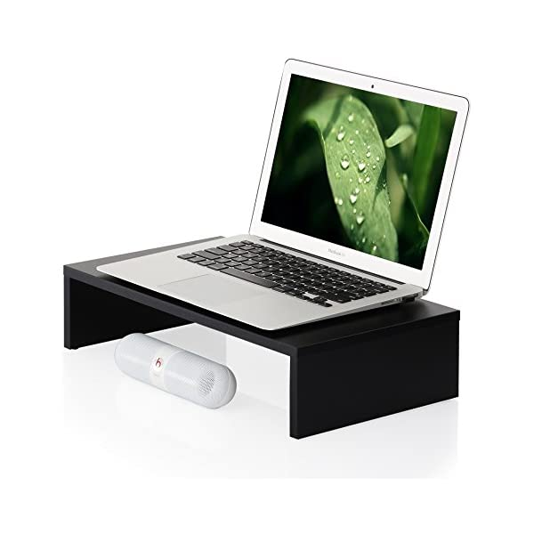 FITUEYES Laptop Stand Computer Monitor Riser With Keyboard Storage Space