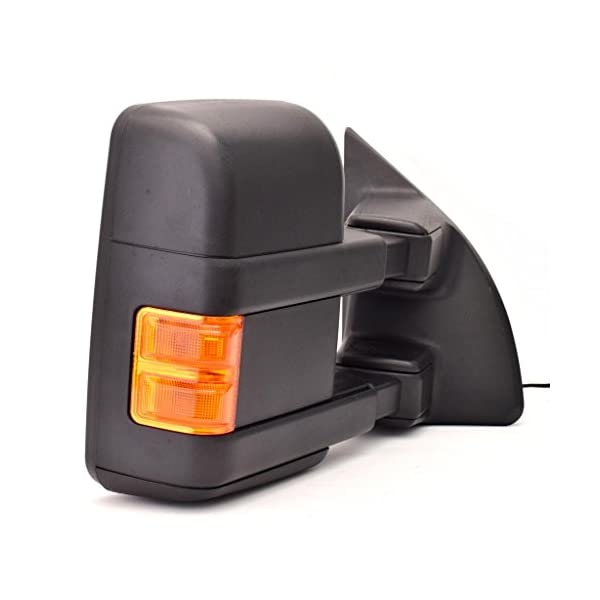 DEDC 1999-2007 Left Drivers Side Power Towing Mirrors Fit Ford Super Duty F250 F350 F450 1999 2000 2001 2002 2003 2004 2005 2006 2007