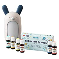 Plant Therapy Ready for School KidSafe Set with Forest Friends Diffuser 100% Pure, Undiluted, Therapeutic Grade