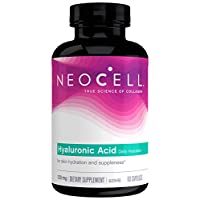 NeoCell Hyaluronic Acid Capsules, 120mg, 60 Capsules (Package May Vary)
