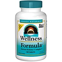 Source Naturals Wellness Formula, Herbal Immune System Support, 180 Tablets