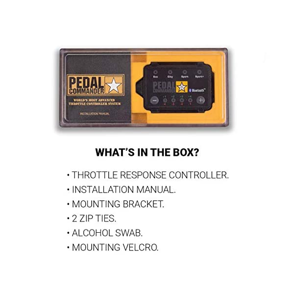 Pedal Commander Throttle Response Controller PC18 Bluetooth for Ford F-250 2011 and newer Fits All Trim Levels; XL, XLT, King Ranch, Lariat, Limited, Platinum