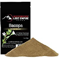 Bacopa Monnieri (Powder - 30g) || Full-Spectrum Extract + Premium Grade + 100% Pure || #1 Herbal Nootropic Supplement - Anti Stress, Anxiety Relief, Fights Depression, Increases Memory & Concentration