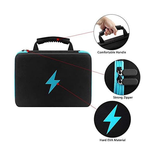 Case Bag Holder fits for 152 Batteries AA AAA AAAA 9V C D Lithium 3V BT168 Not Includes Batteries Blue Battery Organizer Storage Box with Battery Tester