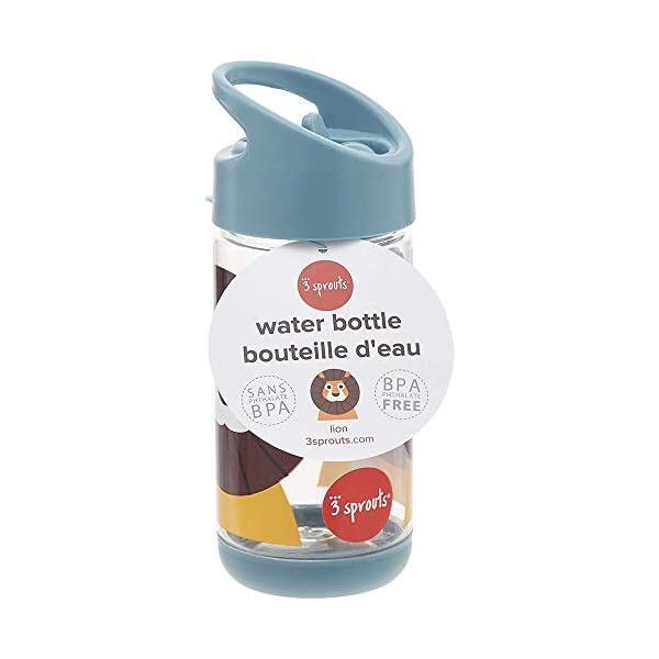 3 Sprouts Water Bottle Plastic Spout Water Bottle Kids Small Spill Proof 12oz