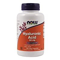 Now Foods Hyaluronic Acid with MSM, 120 Vcaps (Pack of 3)