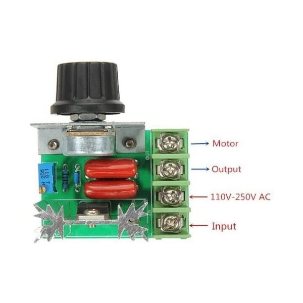2000W AC 50-220V 25A Adjustable Motor Speed Controller Voltage Regulator VN