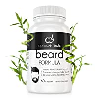 Optimal Effects Beard Growth Supplement For Men - With Natural Vitamins For Fuller, Thicker and Manlier Beard Growth - Made with Beard Growth Biotins For Faster Facial Hair Growth - 60 Veggie Capsules