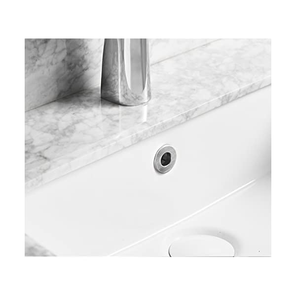 Silver SuperMore Vanity Sink Overflow Cover Basin Sink Ceramic Bathroom Vessel Kitchen Basin Trim Remplacement Round Caps Insert in Hole Pack of 6