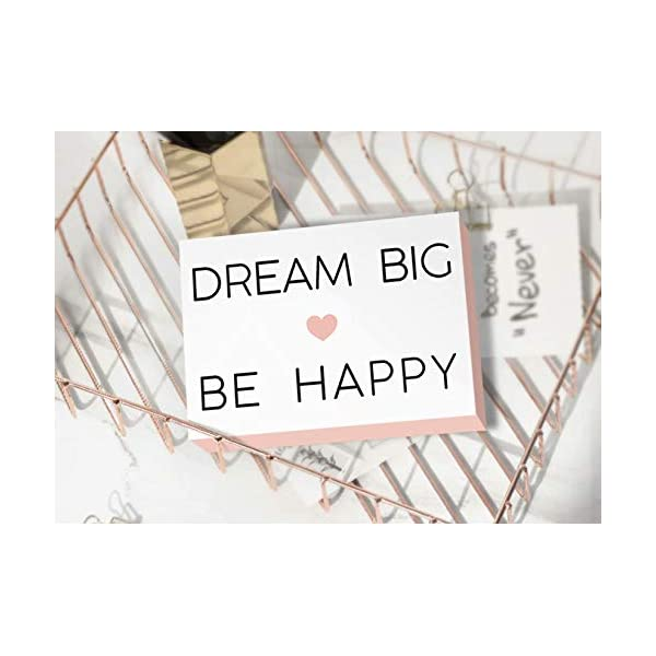 SANY DAYO HOME 7 x 5 inches Colorful Wooden Box Sign with Inspirational Saying for Home and Office Decor Dream Big Be Happy