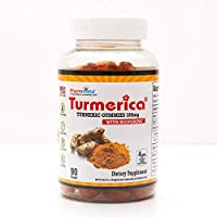 Turmerica - Turmeric Curcumin Gummies 100mg with BioPerine Black Pepper for Enhanced Absorption, 90 Count, Made in USA