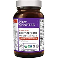 New Chapter Calcium Supplement – Bone Strength Whole Food Calcium with Vitamin K2 + D3 + Magnesium, Vegetarian, Gluten Free 180 count (2 month supply)