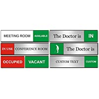 8.4 x 1.6 214 x 40mm Green//Red Edition Viro Slimline in//Out Sliding Door Sign
