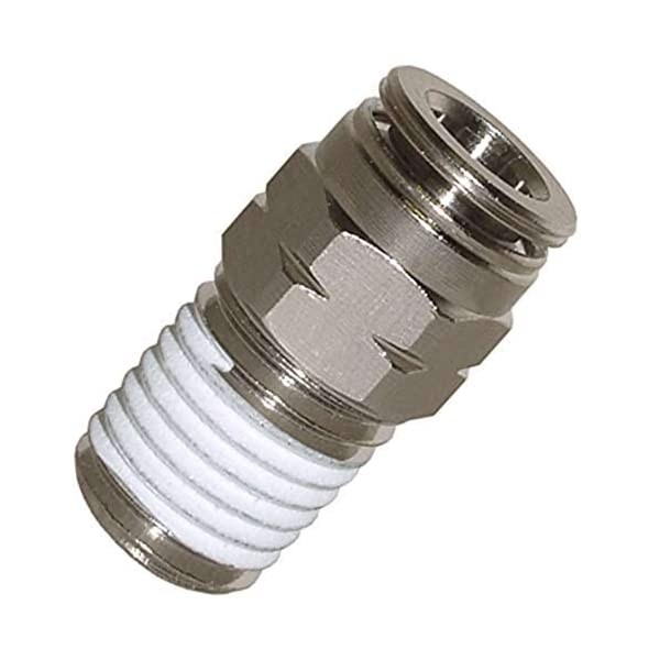 Utah Pneumatic Nickel-Plated Brass Push to Connect air Fittings 1//4od Straight Union Connect air Fittings Quick Connect Push Lock Fittings air Bag Fittings Pneumatic Fittings Tube connectors 5 Pack