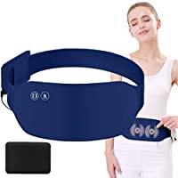 Portable Heating Pad for Menstrual Period Cramps, Electric USB Warming Belt Plus Massage for Back, Waist, Abdomen, Stomach, Neck, Shoulder Pain Relief (Navy-with Battery)