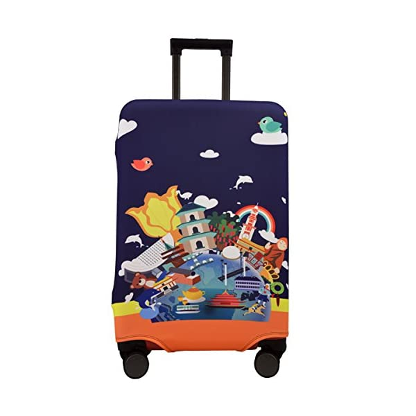 CreativeBags Vacation Travel Suitcase Luggage Spandex Protective Cover 18-30 Inch