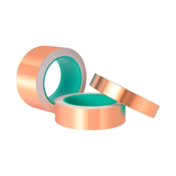 Paper Circuits Grounding Electrical Repairs Slug Repellent ASIV 2 Pack 1//4 inch x 66 Feet Copper Foil Tape with Conductive Adhesive for EMI Shielding