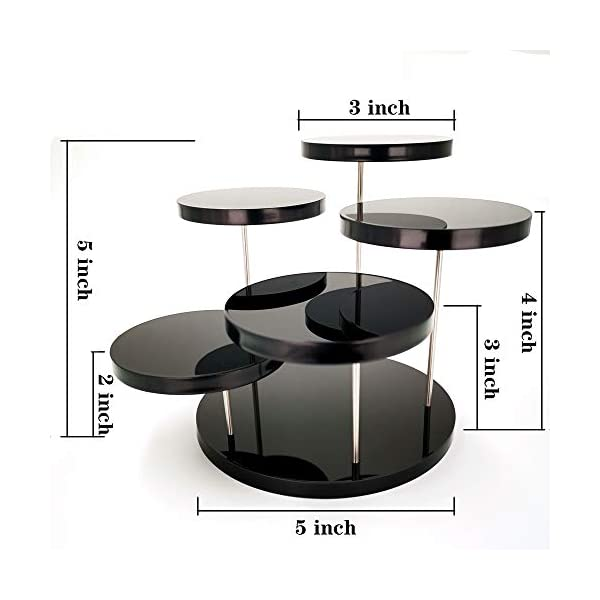 Display Shelves for Mini Figurines CSILife Acrylic Products Display Stands Plexiglass Displaying Risers Black