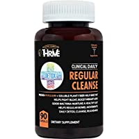 CLINICAL DAILY Regular Cleanse. Natural Colon Cleanser & Detox for Weight Loss and Constipation Relief. 90 Herbal Dietary Fiber Pills - Psyllium Husk Powder Capsules with Glucomannan, Aloe, PROBIOTICS